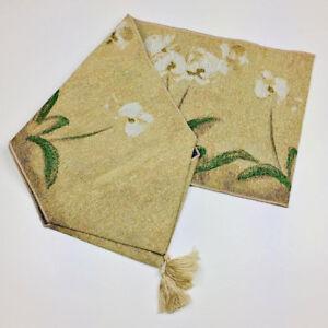 Paperwhite Orchid Orchids in Bloom Tapestry Table Runner ~ Artist, Cheri Blum