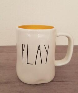 NEW RAE DUNN by Magenta PLAY Coffee Tea Mug Farmhouse Cottage Home Kitchen Decor