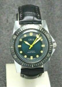 "Beautiful Diver Style ""Fixed Bezel"" Hand Winding Swiss Movement FHF ST96 Watch"