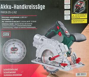 PARKSIDE® Akku Handkreissäge PHKSA20-Li A2 mit Laserführung Hand Kreissäge