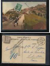 Switzerland train post card to France postage due  1909              KEL1126
