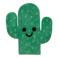 Felice Cactus Pavimento a Forma di Tappeto 100% Cotton Cameretta Bambini