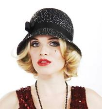 Sequin Flapper Hat Roaring 20's Fancy Dress Halloween Adult Costume Accessory