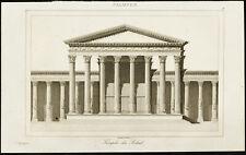 Gravure de 1852 : Temple du soleil (temple de Bêl) - Palmyre, Syrie