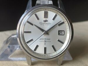 Vintage SEIKO Automatic Watch/ SEIKOMATIC Self Dater Cal.395 39J SS 1960s