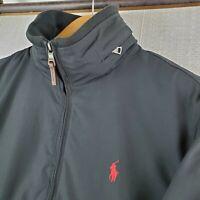 POLO RALPH LAUREN Size Small Mens Fleece Lined Softshell Black Jacket Coat $195