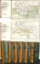 Storia dei Domini stranieri in Italia-Moisè-1839-101 tavole-11 grandi carte geo.