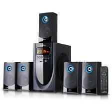 Home Theater Speaker System Surround Sound 5.1 Channel Wireless Bluetooth Black