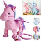 Cutest Walking & Singing Unicorn Toys Plush Birthday Best Gift for Kids Girls US