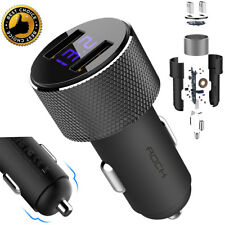 Dual USB Car Charger With LED Display Fast Charging For Smart Phone