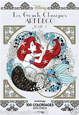 Disney Classics Art Deco Style Adult Colouring Book French Princess Mermaid Sea