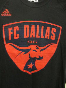 FC Dallas MLS Adidas Climalite Ultimate T Shirt, Black, Men's Size Small