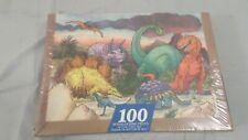 Sealed Vintage Springbok 1224 100 Pc Dinosaurs Jigsaw Puzzle
