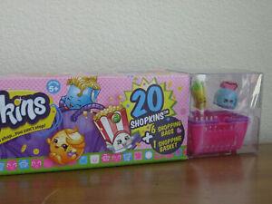 SHOPKINS Season 2 MEGA PACK 20 Shopkins 6 Shopping Bags & Basket RETIRED NEW