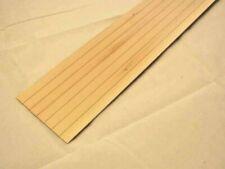 """LAP SIDING 1/2"""" basswood 1pc  miniature clapboard exterior  7037 1-12 scale 24""""L"""