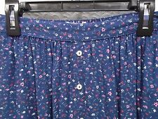 ABERCROMBIE & FITCH Girls Small S Floral Vicose Faux Button Front Skirt -F-