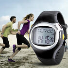 Sports Running Pulse Heart Rate Monitor Fitness Pedometer Calories Wrist Watch