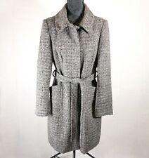 Women's Debenhams Collection Coat / Jacket | UK 14 | Grey / Brown Knit | Belt