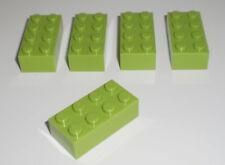 JEU JOUET ENFANT Personnage LEGO * Lot 5 BRIQUES 2X4 - VERT ANIS * !!