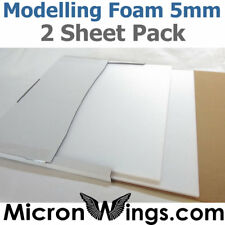 Modelling Foam Pack (Depron Replacement) - 5mm White (box of two sheets)
