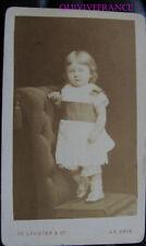 PCV774 - photo CDV FILLETTE nommée BRAUTSEN 1877 par DE LAVIETER à LA HAYE