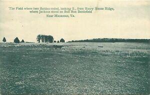 c1910 Bull Run Civil War Battlefield, Manassas, Virginia Postcard