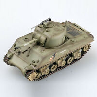 1:72 WW2 M4A3 sherman tank US army coyote painting weathering diecast Easy model