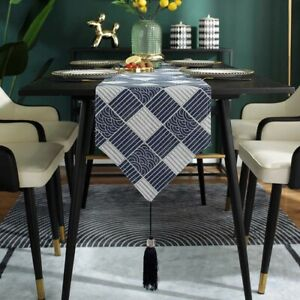 Navy Table Runner Tablecloth Coffee Table Cloth Cover Hotel Party Home Decor D