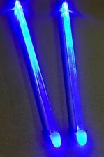 Blue LED Drum Sticks Light Up Percussion Drum Set rock stix Effect Zildjian 5B