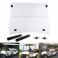 Acrylic Folding Windshield Golf Cart Part Clear Fold Down fit 1994-2014 EZGO TXT