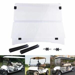 For 1994-2014 EZGO TXT & Medalist Folding Golf Cart Clear Windshield PC