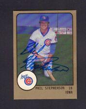 Phil Stephenson 1988 Iowa Cubs Autographed Signed w/COA jh55