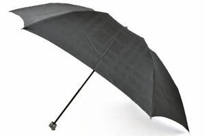 Burberry Folding Umbrella Dark Gray Shadow Check Plaid Mens New