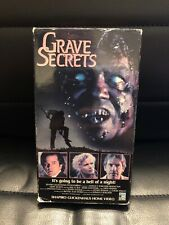 GRAVE SECRETS VHS OOP PAUL LE MAT DAVID WARNER HORROR GHOSTS PSYCHIC PHENOMENA