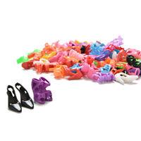 40 pares Zapatos de Muñeca Tacones Surtidos de Colores para el Vestido de TrajeK