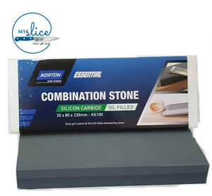 Norton Bear KS100 Combination Sharpening Stone - Oil Filled 30x80x230mm