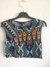 TOPSHOP ladies aztec top and Trousers Both size 8. vest style Top