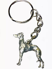 Italian Greyhound Dog Keychain Keyring Harris Pewter Made Usa Key Chain Ring