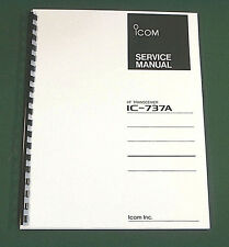 Icom IC-737A Service Manual - Premium Card Stock Covers & 28 LB Paper!