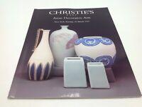 Christie's East Auction Catalog Asian Decorative Arts March 18 1997 NY