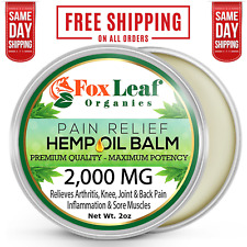 Premium Arthritis, Back, Joint & Muscle Ache Cream Balm Rub For Pain Relief, 2oz