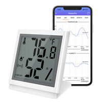 50M Bluetooth Smart Funk Thermometer Innen Sensor Digital Hygrometer Temperatur