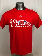 CHASE UTLEY PHILADELPHIA PHILLIES VINTAGE 2009 WS MAJESTIC T-SHIRT YOUTH XL