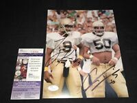 TONY RICE & CHRIS ZORICH NOTRE DAME FIGHTING IRISH SIGNED 8X10 PHOTO JSA V45568