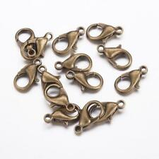 LOT de 20 FERMOIRS MOUSQUETON 14 x 8mm BRONZE SANS NICKEL bijoux perles