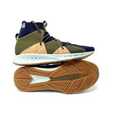 1e67a238475745 Puma Mens Ignite Wave Evoknit Limited Edition Cork Shoe Blue Olive 365858  Sz 9.5