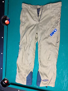 Vintage Spyder Men's M Ski Pants Thin Outer Shell Full Side Zippers - fits small