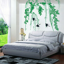 Weeping Willow & Swallows Removable Wall Sticker Home Decor DIY Art Decals US