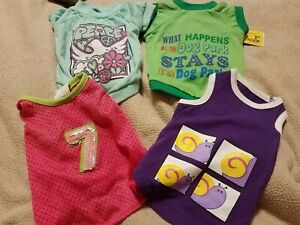dog shirts. size small lot of 4  EUC or NWT.  all pullover
