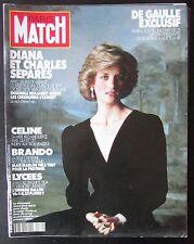 PARIS MATCH 1990  LADY DIANA  DE GAULLE LE PEINTRE BALTHUS DANS SON REFUGE